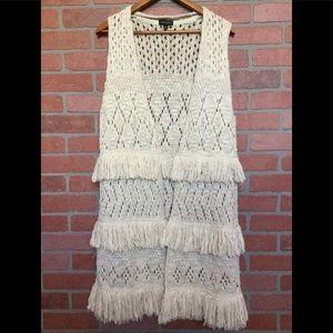 TOPSHOP Women's duster cardigan size Medium (4L36)